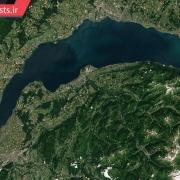 تصویر ماهواره ای از دریاچه لمان سوئیس