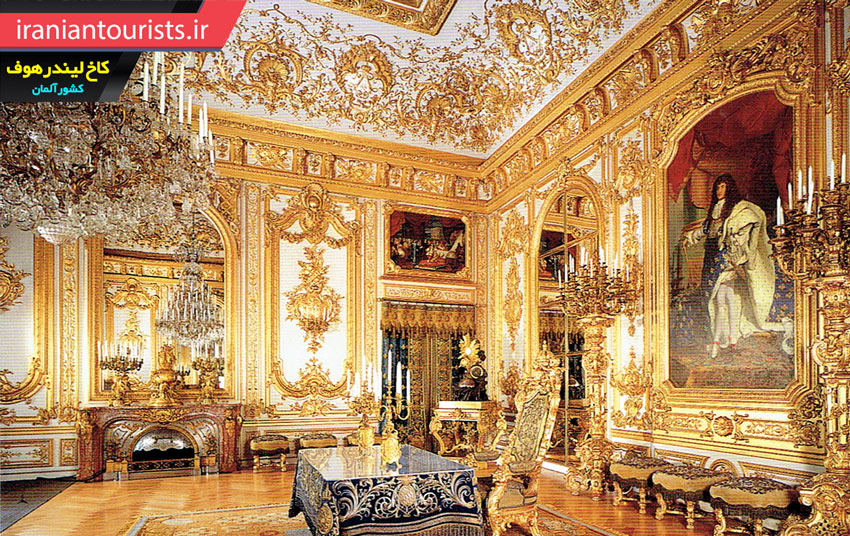 نمایی از داخل کاخ لیندرهوف کشور آلمان