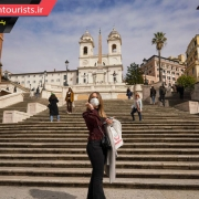 متروکه شدن پله های اسپانیایی برای مهار ویروس کرونا