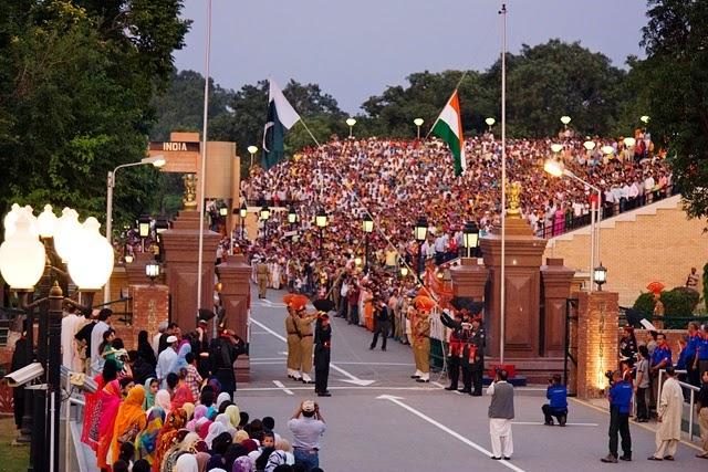 مرز بین دو کشور پاکستان و هندوستان