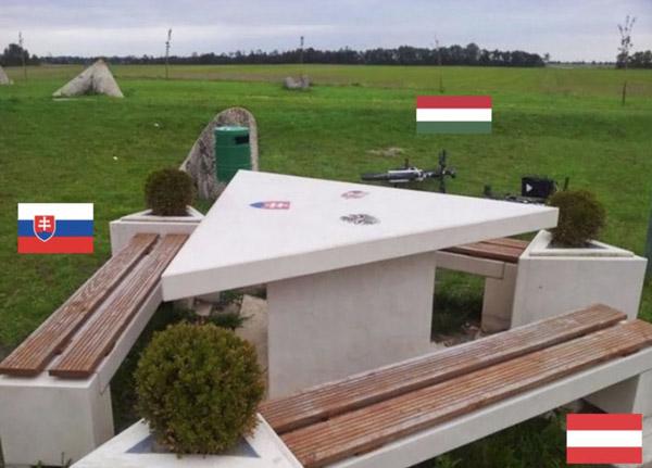 مرز جالب سه کشور اتریش، مجارستان و اسلواکی
